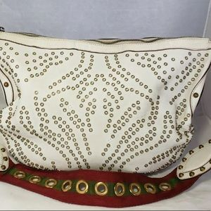 Gucci Bags - GUCCI White Lthr Pelham Lady Bag Red Green Marmont